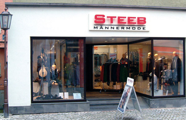 Steeb Männermode Filiale Rottenburg am Neckar